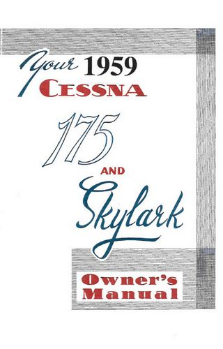 1959 Cessna 175 Owners Manual